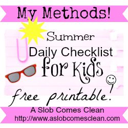 kids daily checklist