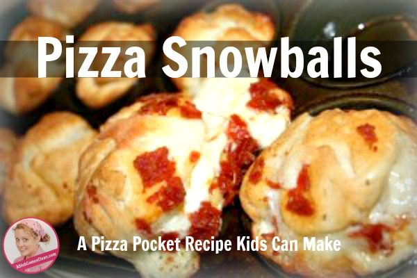 easy pizza snowballs a pizza pocket recipe kids can make for a picnic meal at ASlobComesClean.com fb