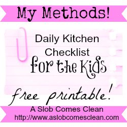 My Daily Kitchen Checklist for the Kids – Printable
