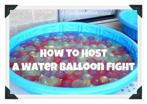 How to Prepare for a Water Balloon Fight