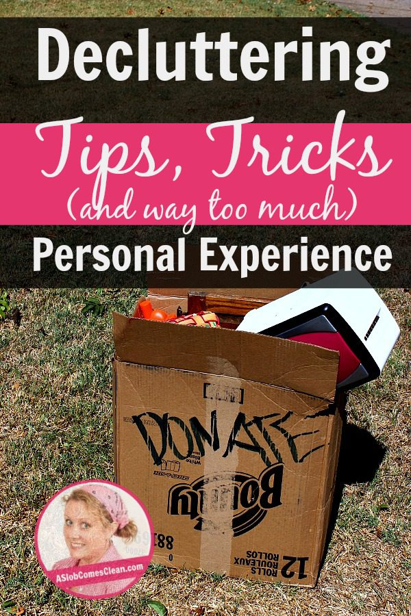 Decluttering Tips and Tricks at ASlobComesclean.com