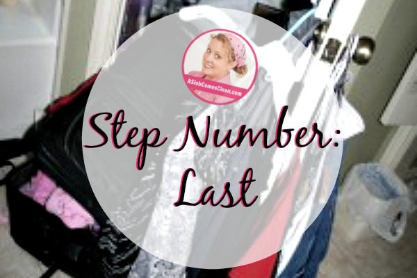 step number last fb at ASlobComesClean.com