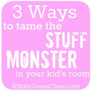 Three Ideas for Taming the Stuff Monster in Kids' Rooms