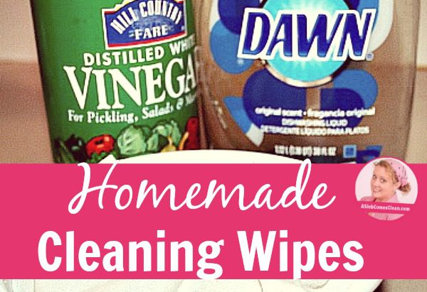 Homemade Cleaning Wipes title at ASlobComesClean.com