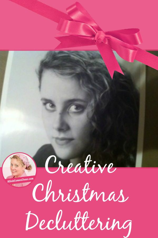 Creative Christmas Decluttering pin at ASlobcomesClean.com