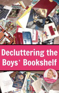 Decluttering the Boys' Bookshelf