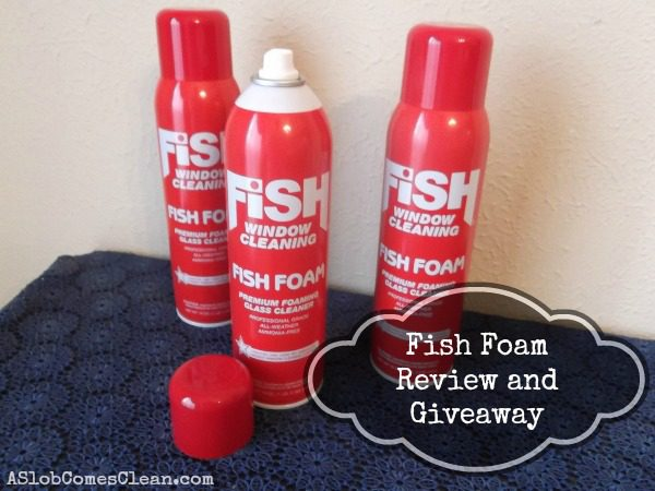 giveaway fish foam window cleaner a slob comes clean. Black Bedroom Furniture Sets. Home Design Ideas
