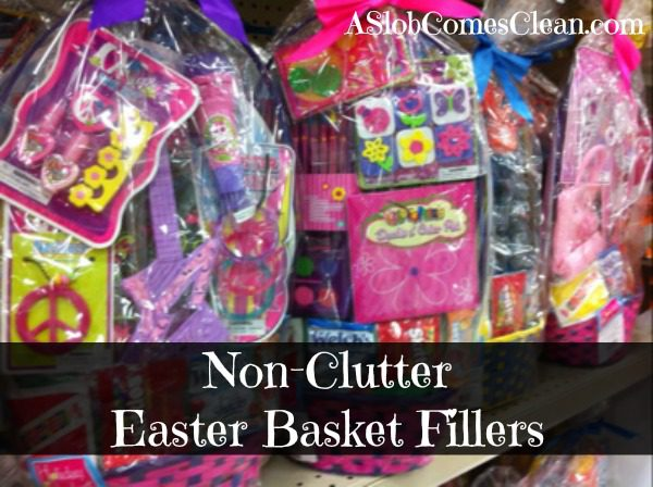 Non clutter easter basket fillers a slob comes clean easter basket fillers that wont end up as clutter negle Choice Image