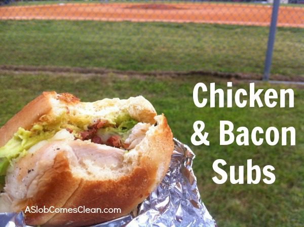 Picnic Recipe - Chicken and Bacon Sub Sandwiches
