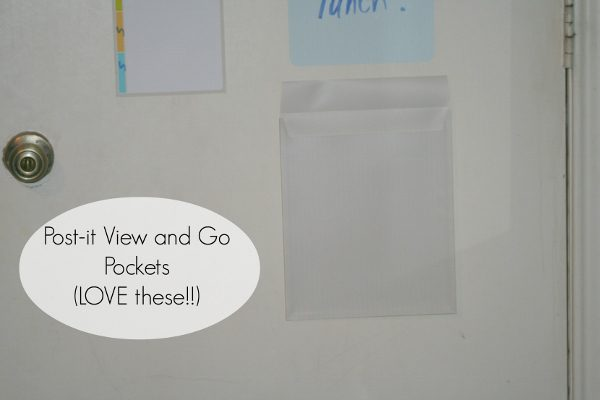 Post-it View and Go Pockets at ASlobComesClean.com (600x400)