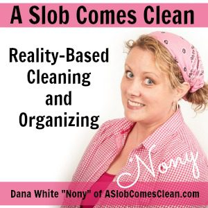 Podcast #84 from ASlobComesClean.com - Decluttering Clothes - Getting Over the Hangups