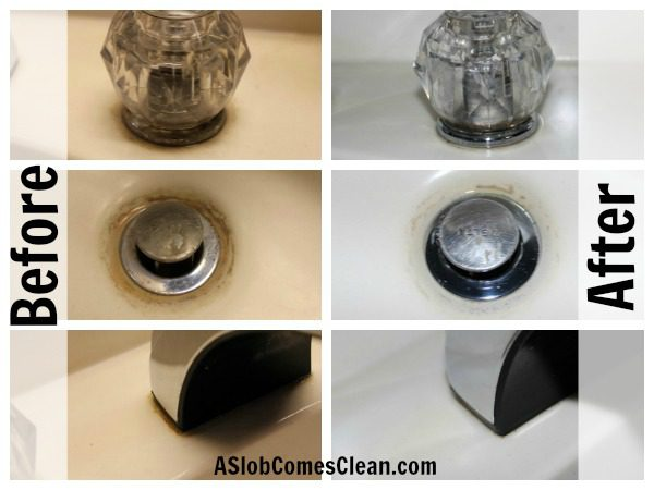Before and After Pictures Using Non-Toxic Heavy Duty Cleaner Clutter Cleaner - Review at ASlobComesClean.com