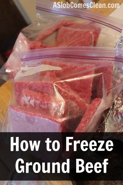 How to Freeze Ground Beef (Super Easy!) at ASlobComesClean.com