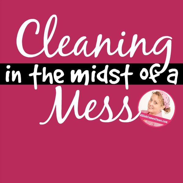 Cleaning in the Midst of a Mess (Is it worth it?) at ASlobComesClean.com