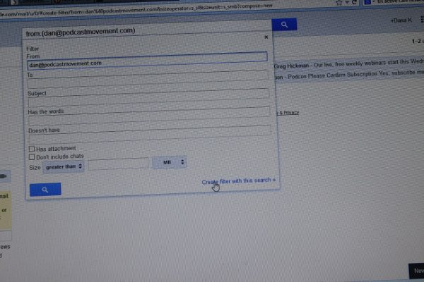 Filtering Email in Gmail