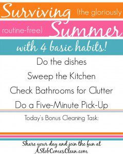 Surviving Summer Free Printable Ultra-Basic Daily Checklist (And Fun!)