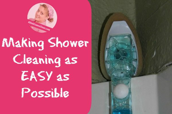 Making Shower Cleaning as EASY as Possible at ASlobComesClean.com
