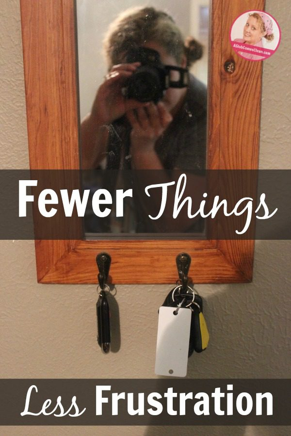 Fewer Things = Less Frustration (Really.) at ASlobComesClean.com