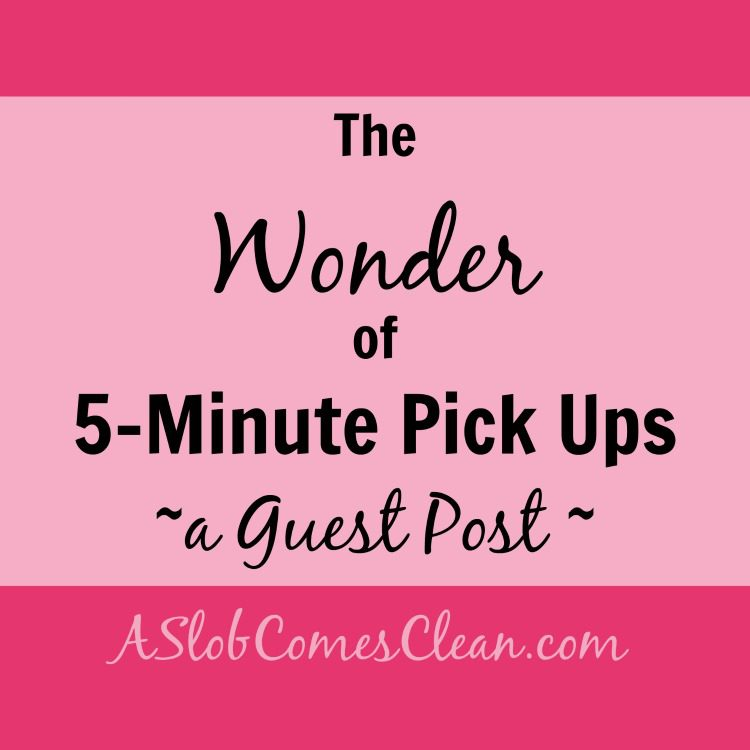 the Wonder of 5 Minute Pick Ups A Guest Post - A Slob Comes Clean