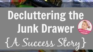 Decluttering the Junk Drawer A Success Story Guest Post at ASlobComesClean.com fb