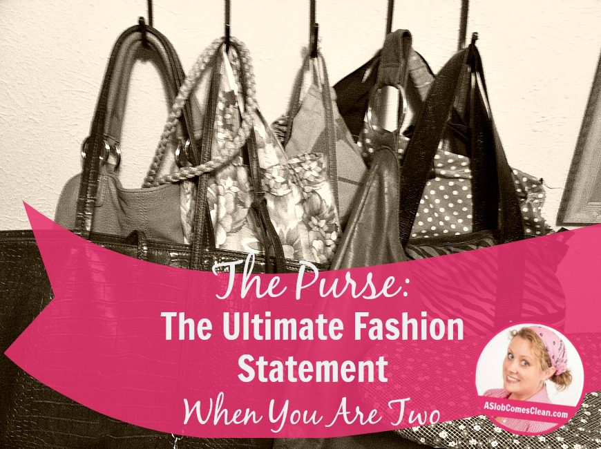 The Purse The Ultimate Fashion Statement When You Are Two at ASlobComesClean.com
