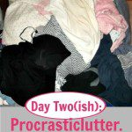Day Two(ish): Procrasticlutter. (Decluttering Strategies that Won't Overwhelm)
