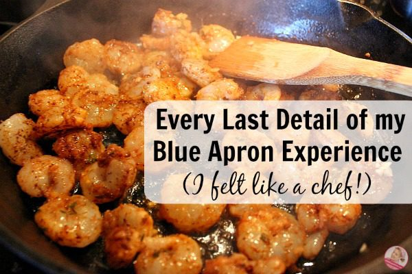 Every Last Detail of my Blue Apron Experience (I felt like a chef!) at ASlobComesClean.com fb