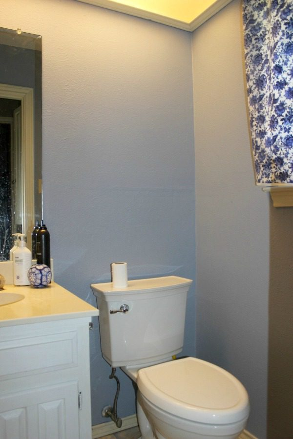 paint the bathroom AFTER at ASlobComesClean.com