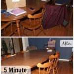Clearing the Dining Room Table in Five Minutes #5MinuteFriday