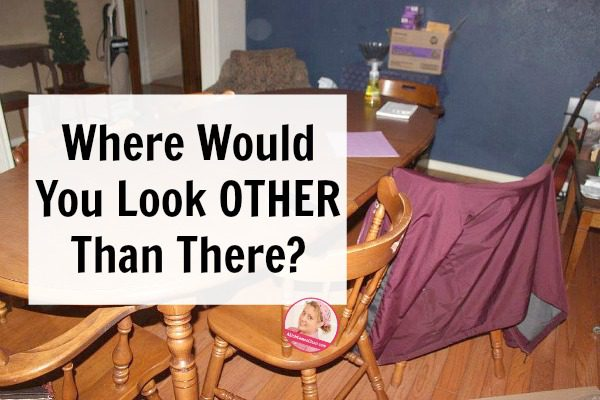 Where Would You Look OTHER Than There My first decluttering questions at ASlobComesClean.com