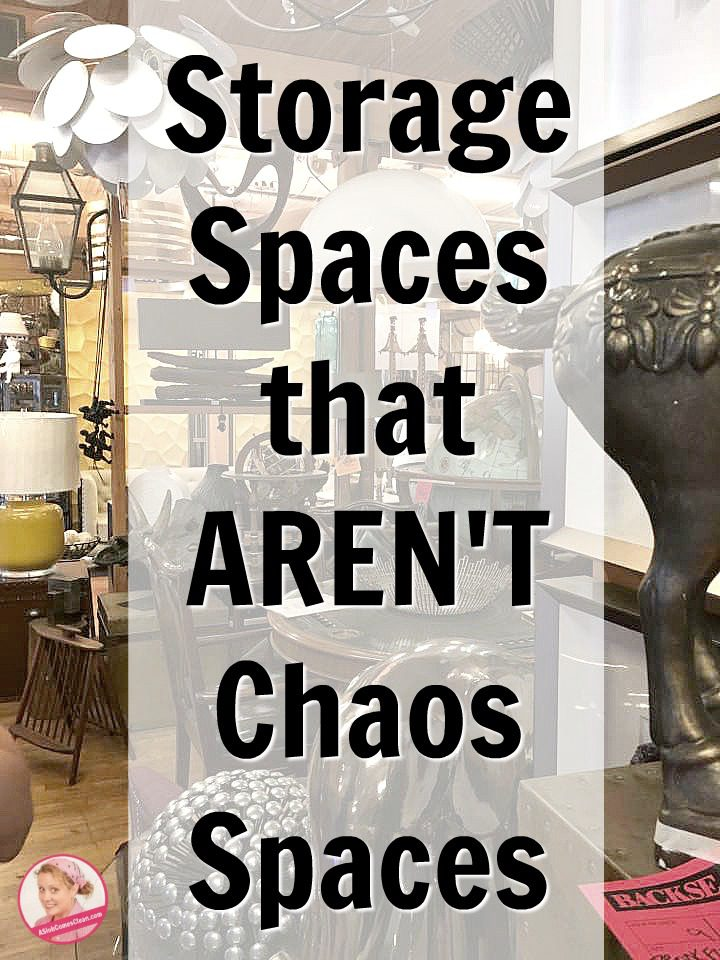 Storage Spaces that AREN'T Chaos Spaces Swiffer and Decluttering at ASlobComesClean.com