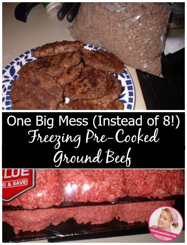 How to Pre-Cook and Freeze Ground Beef to Speed Up Meal Prep - ASlobComesClean.com