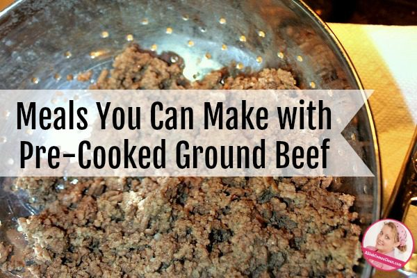Lots of ways to use my pre cooked ground beef a slob for Things you can make with ground beef