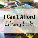 I Can't Afford Library Books