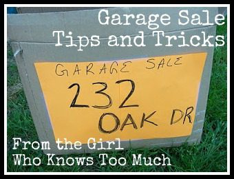 Garage Sale Tips from the Girl Who Knows Too Much Part 1 at ASlobComesClean.com
