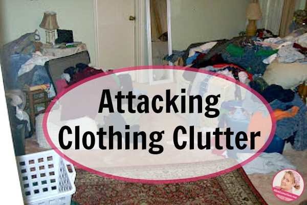 attacking clothing clutter at ASlobComesClean.com fb