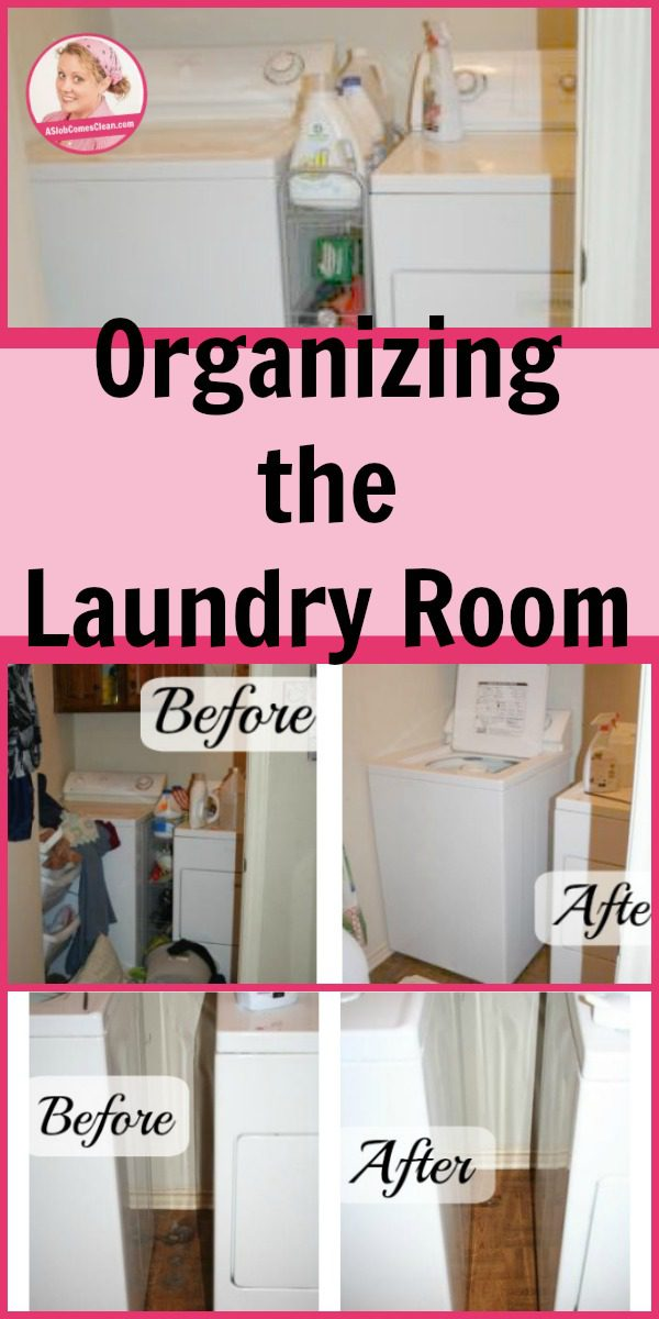 Organizing the Laundry Room pinterest at ASlobComesClean.com