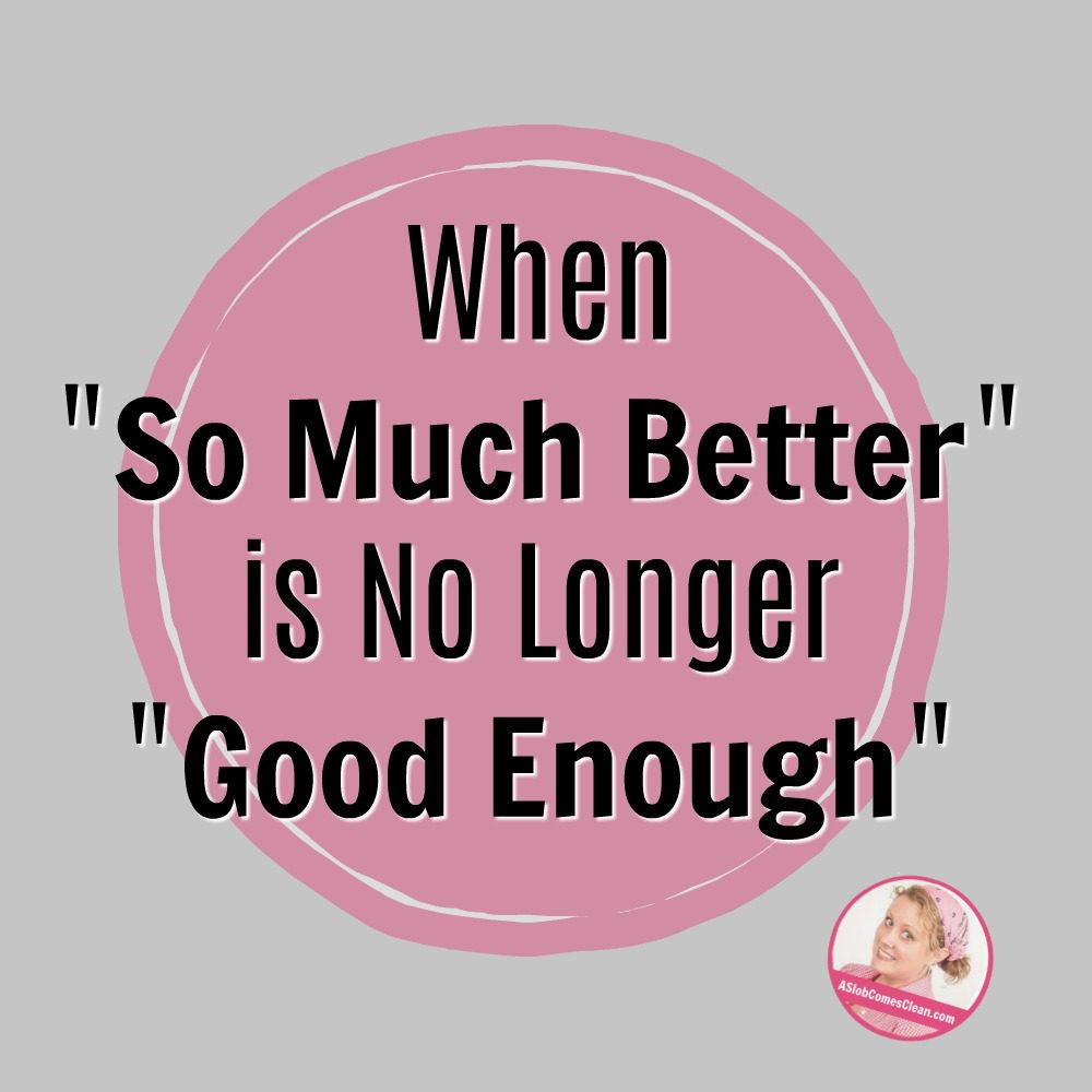 when so much better is no longer good enough declutter manage your home at ASlobComesClean.com