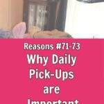 Daily Pick Up Important Reasons 73-75 at ASlobComesClean.com