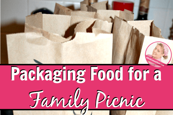 packaging food for a family picnic at ASlobComesClean.com fb