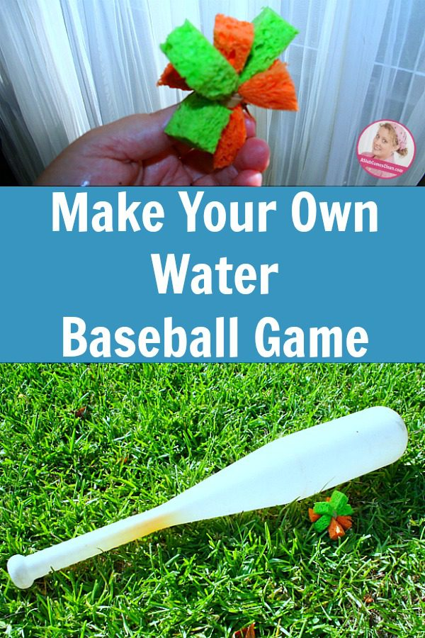 How to Make Your Own Water Baseball Game Summer Fun with Kids at ASlobComesClean.com