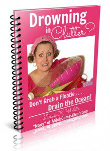"Drowning in Clutter? An E-book by Dana White ""Nony"" of ASlobComesClean.com"