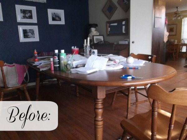 Messy And Cluttered Dining Room Table