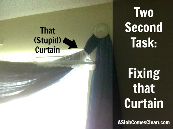 Fixing that (Stupid) Curtain at ASlobComesClean.com