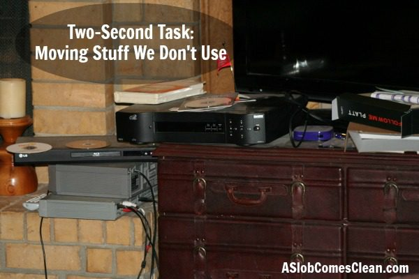 Two Second Task Moving Stuff We Don't Use at ASlobComesClean.com