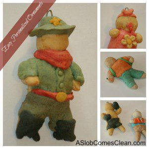 Personalized Christmas Salt Dough Ornaments at ASlobComesClean.com