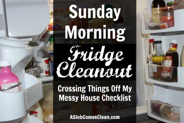 Sunday Morning Fridge Cleanout - Checking Things Off My Messy House Checklist at ASlobComesClean.com