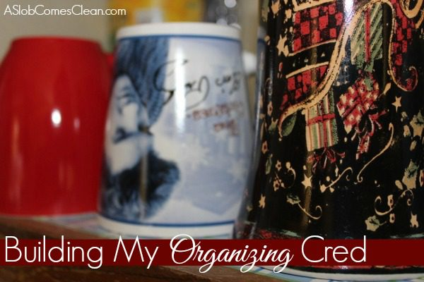 Building My Organizing Credibility with Hubby at ASlobComesClean.com