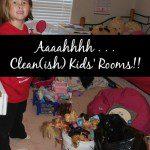 Aaaaahhhh. Clean(ish) Kids' Rooms! (And Decluttering Party Week 4)