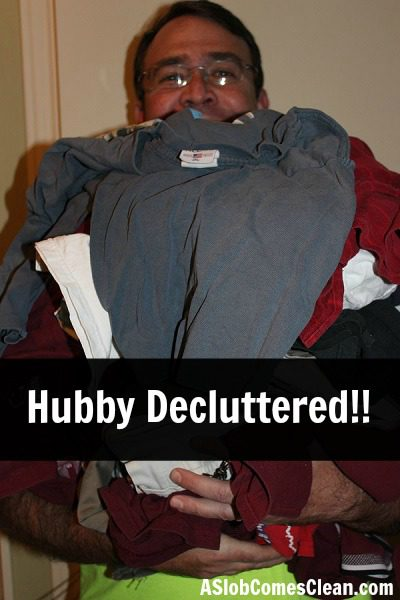Photo - Hubby Decluttered! at ASlobComesClean.com